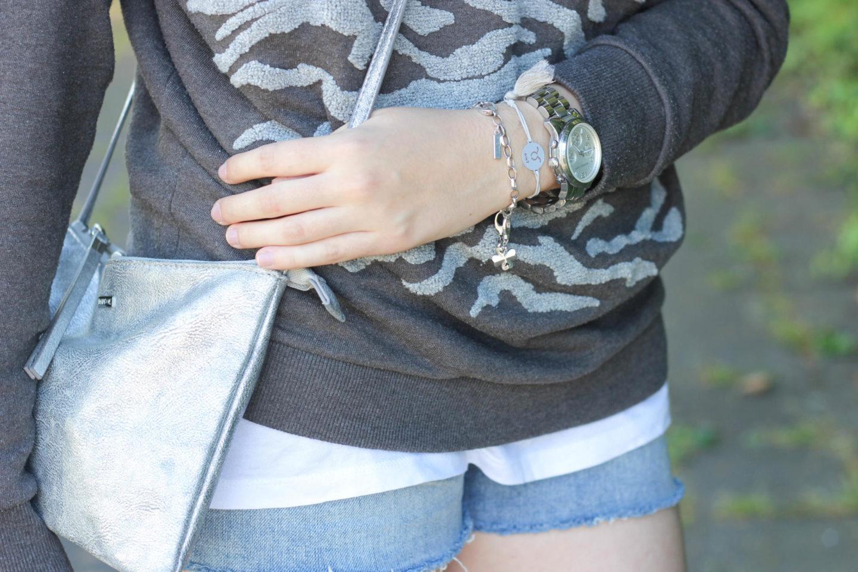 silver clutch crossbody