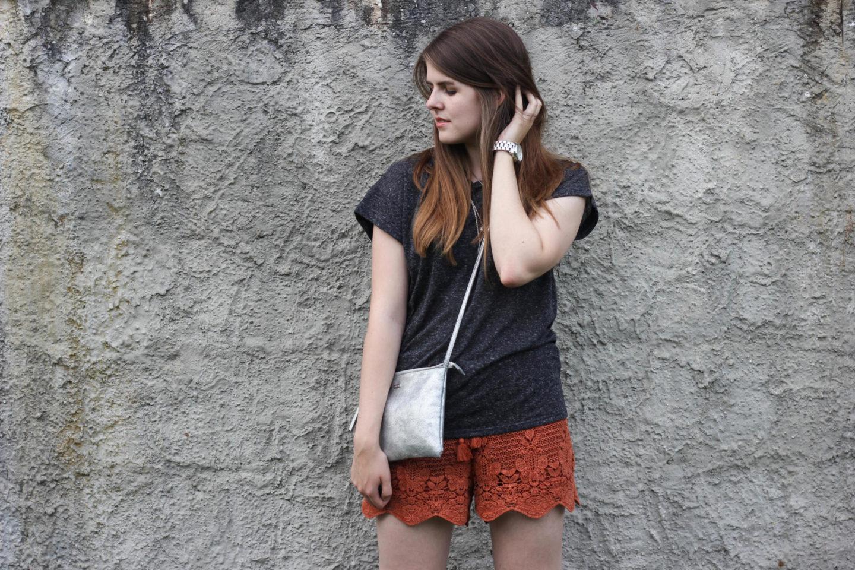Crochet Shorts Abercrombie Blogger
