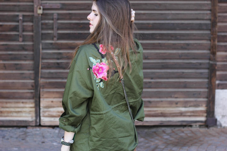 Zara flower parka