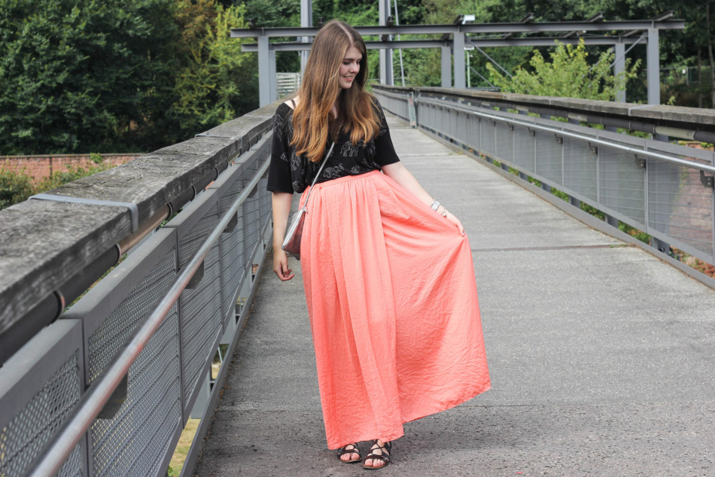 maxi skirt look outfit