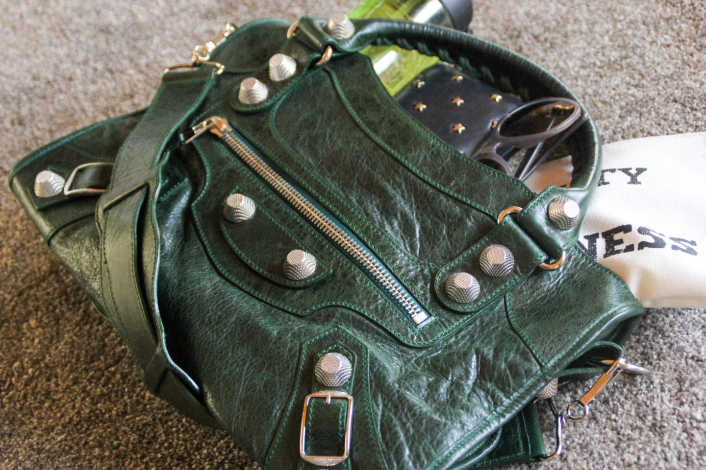 Balenciaga City Green Giant Hardware