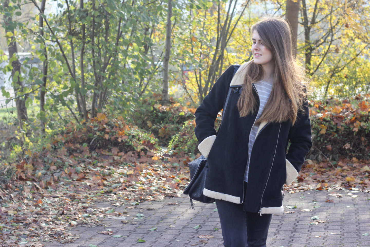 Zara coat blogger
