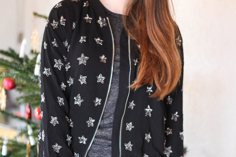 Bomber jacket sparkling star
