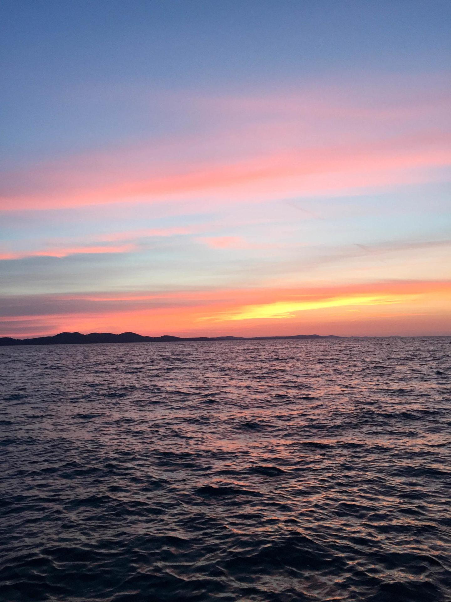 Sunset Zadar Sonnenuntergang