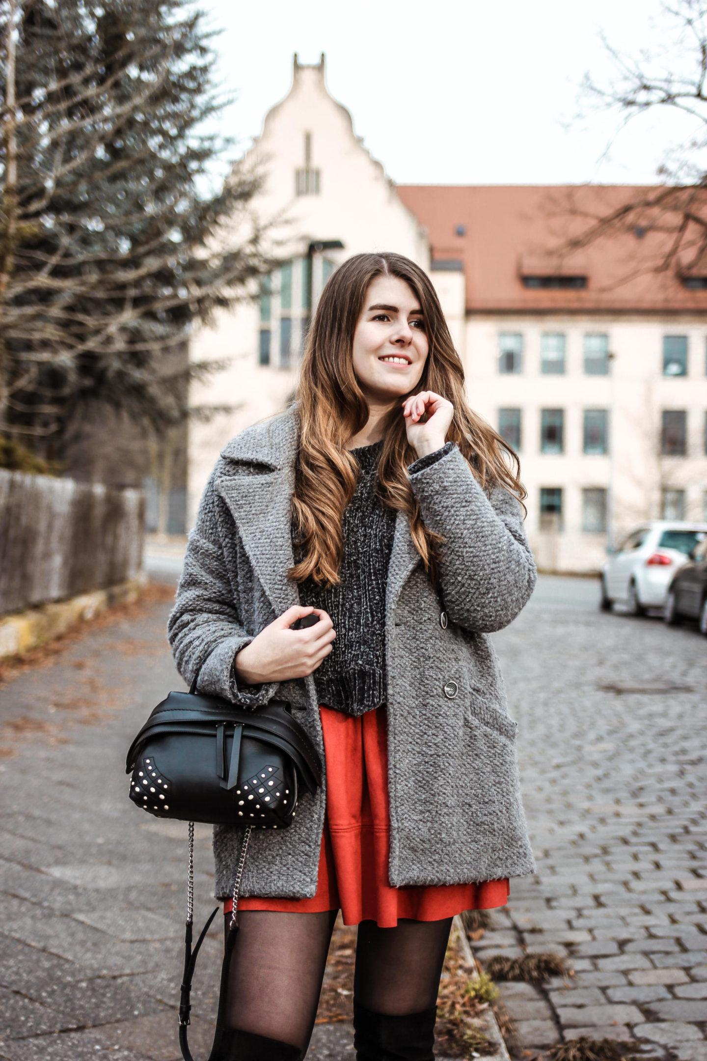 Outfit Overknee Stiefel im Alltag tragen